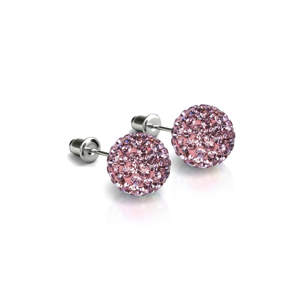 Flamingo Crystal | .925 Sterling Silver | Kikiballa Earrings