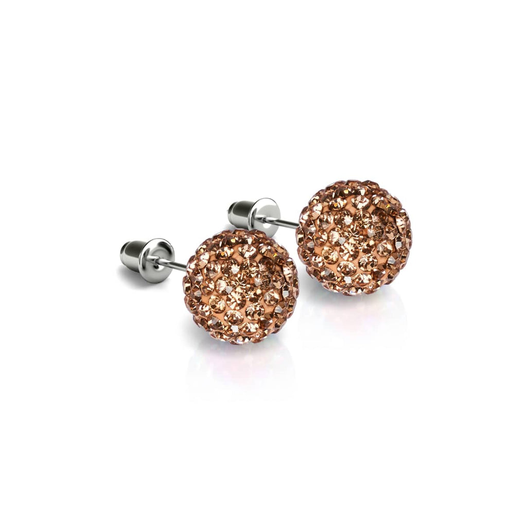 Champagne Crystal | .925 Sterling Silver | Kikiballa Earrings