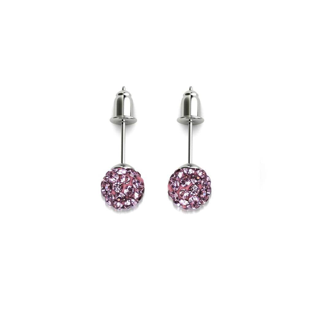 Flamingo Crystal | .925 Sterling Silver | Mini Kikiballa Earrings