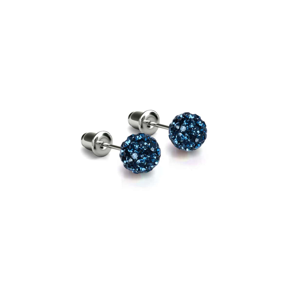 Midnight Confetti Crystal | .925 Sterling Silver | Mini Kikiballa Earrings