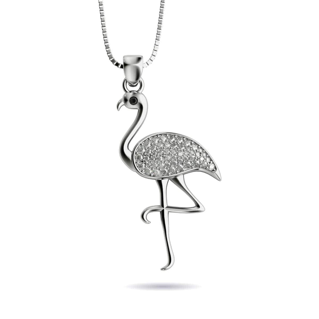 925 Sterling Silver Flamingo Charm Made in USA
