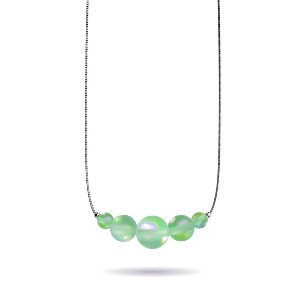 Emerald | .925 Sterling Silver | Mermaid Glass Infinity Clasp Necklace