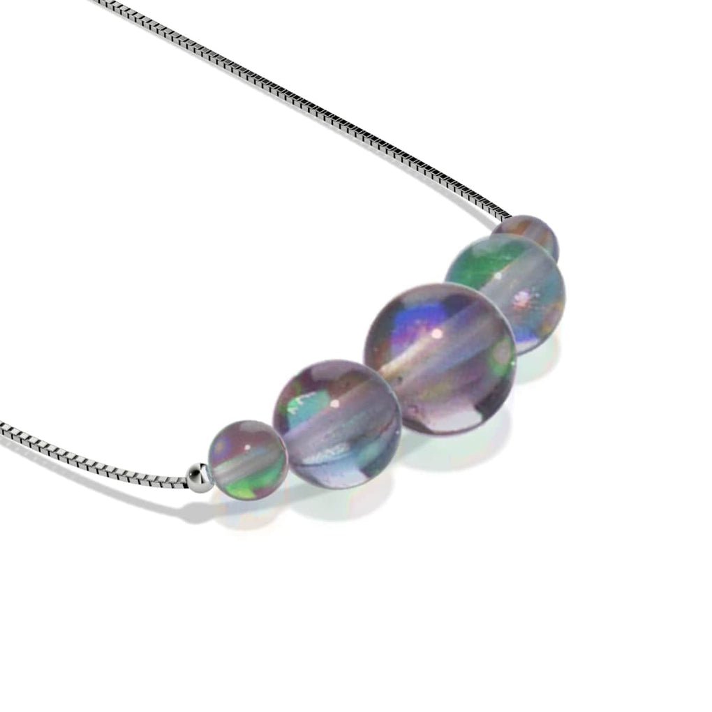 Milky Way | .925 Sterling Silver | Galaxy Glass Infinity Clasp Necklace