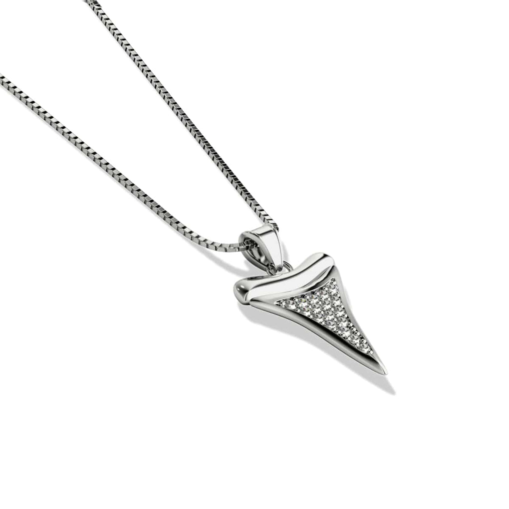 Sharktooth Infinity Clasp Necklace by Lauren Howe | .925 Sterling Silver | Crystal
