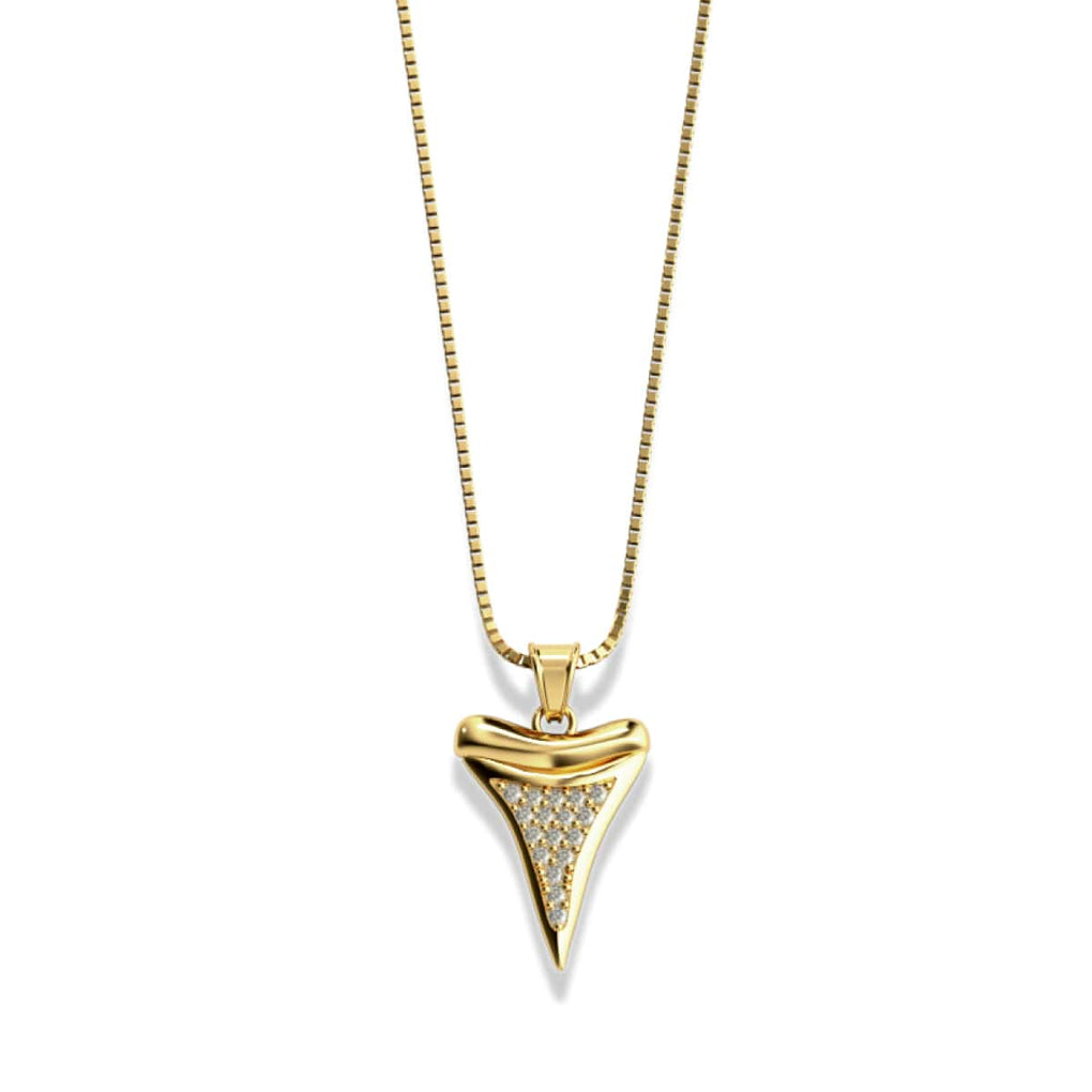 Shark Tooth Infinity Clasp Necklace by Lauren Howe | Gold | Crystal