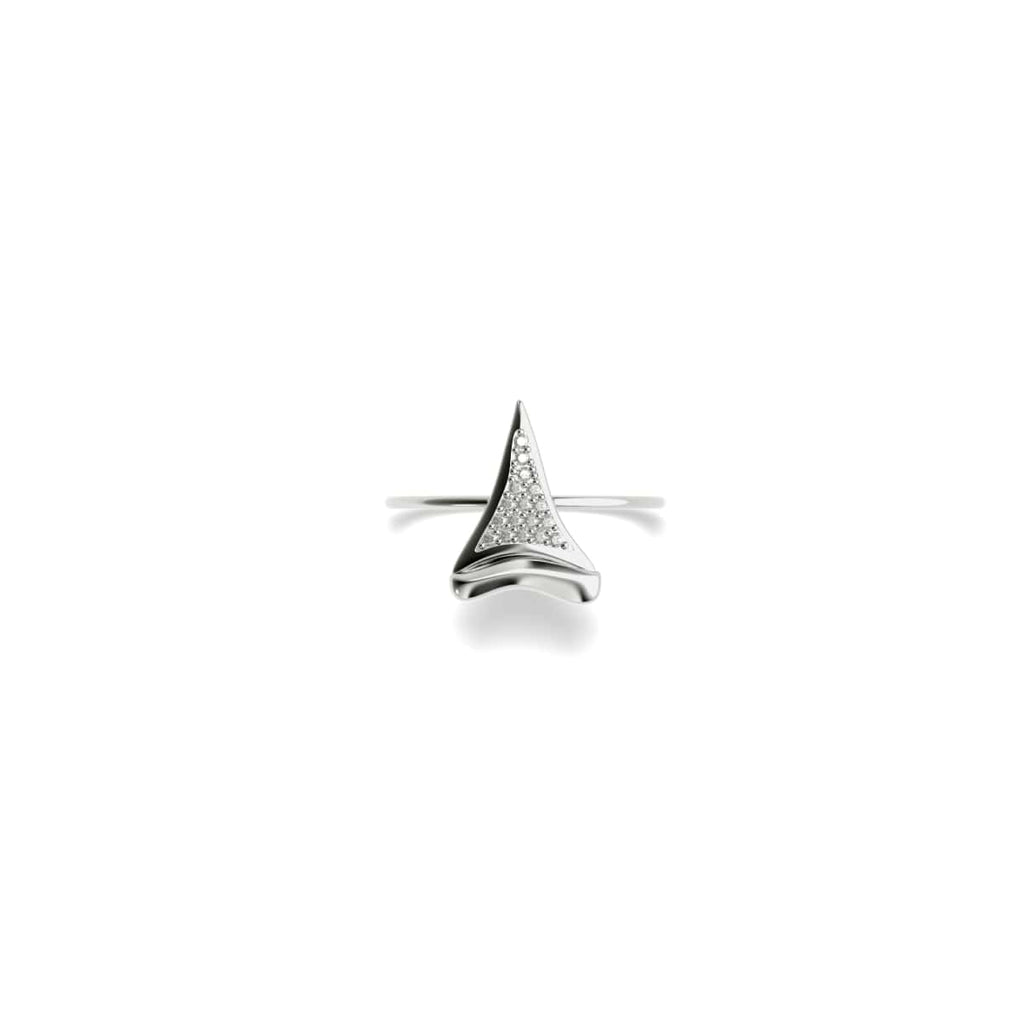 Sharktooth Ring by Lauren Howe | .925 Sterling Silver | Crystal