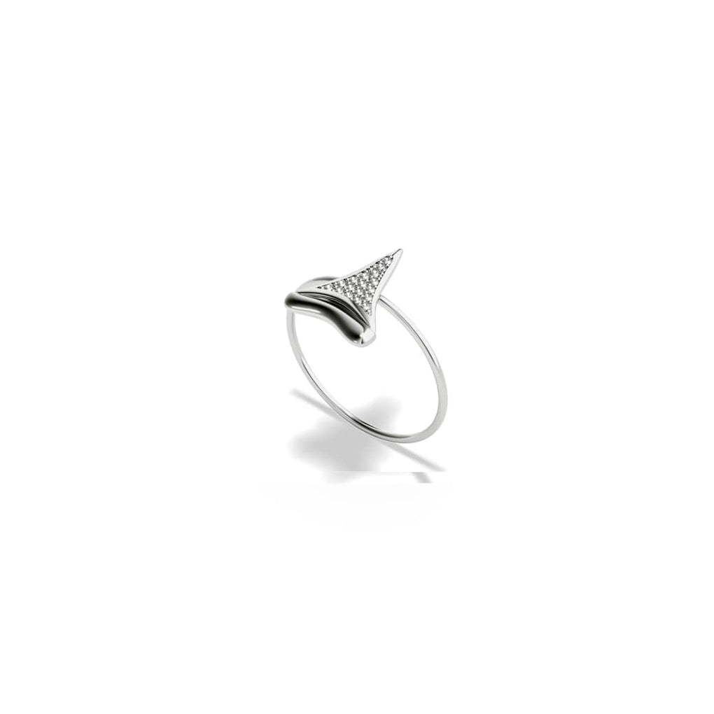 Shark Tooth Ring by Lauren Howe | .925 Sterling Silver | Crystal