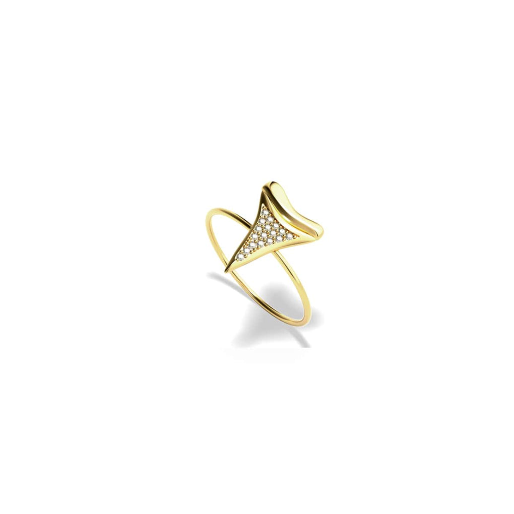 Shark Tooth Ring by Lauren Howe | Gold | Crystal