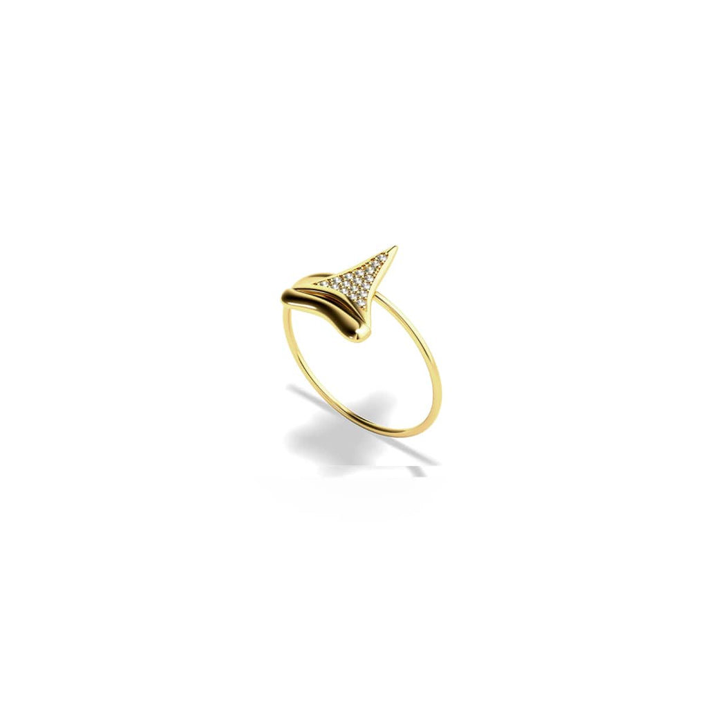 Sharktooth Ring by Lauren Howe | Gold | Crystal