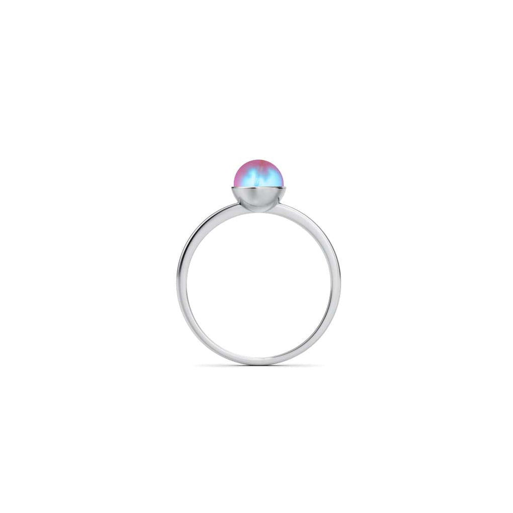 Pink | .925 Sterling Silver | Mermaid Glass Ring