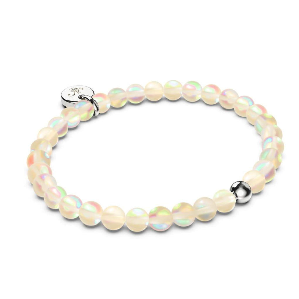 Peach | 18k Gold Vermeil | .925 Sterling Silver | Mermaid Glass Bead Bracelet