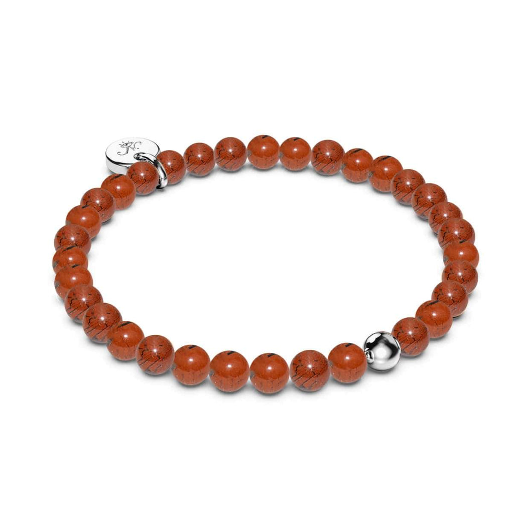 Red Turquoise | White Gold Vermeil | Healing Stone Bead Bracelet