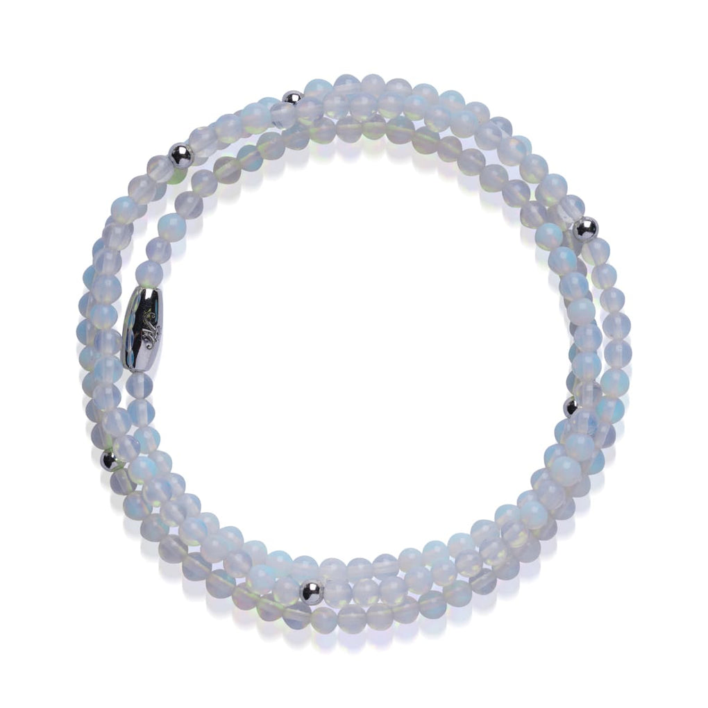 Neon Moonstone | .925 Sterling Silver | Gemstone Wrap