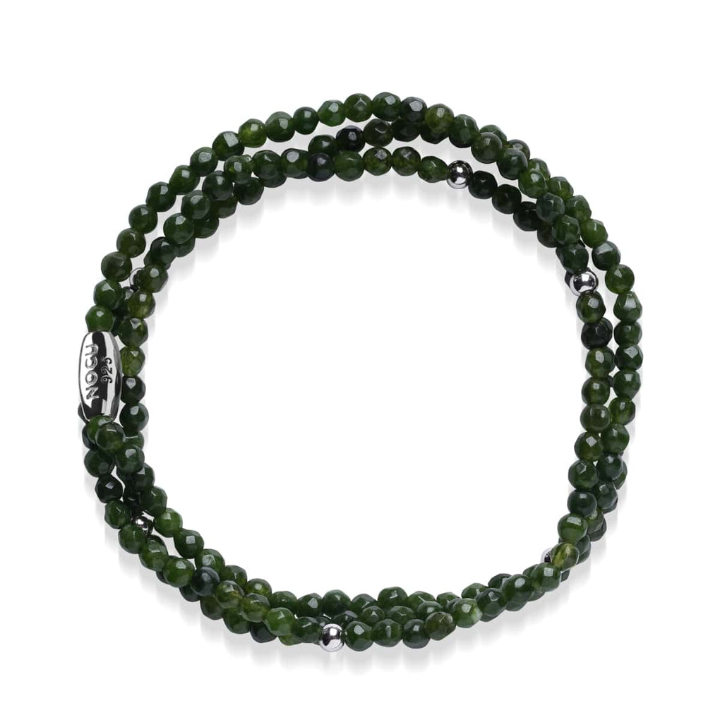 Dark Green Jade | .925 Sterling Silver | Gemstone Wrap