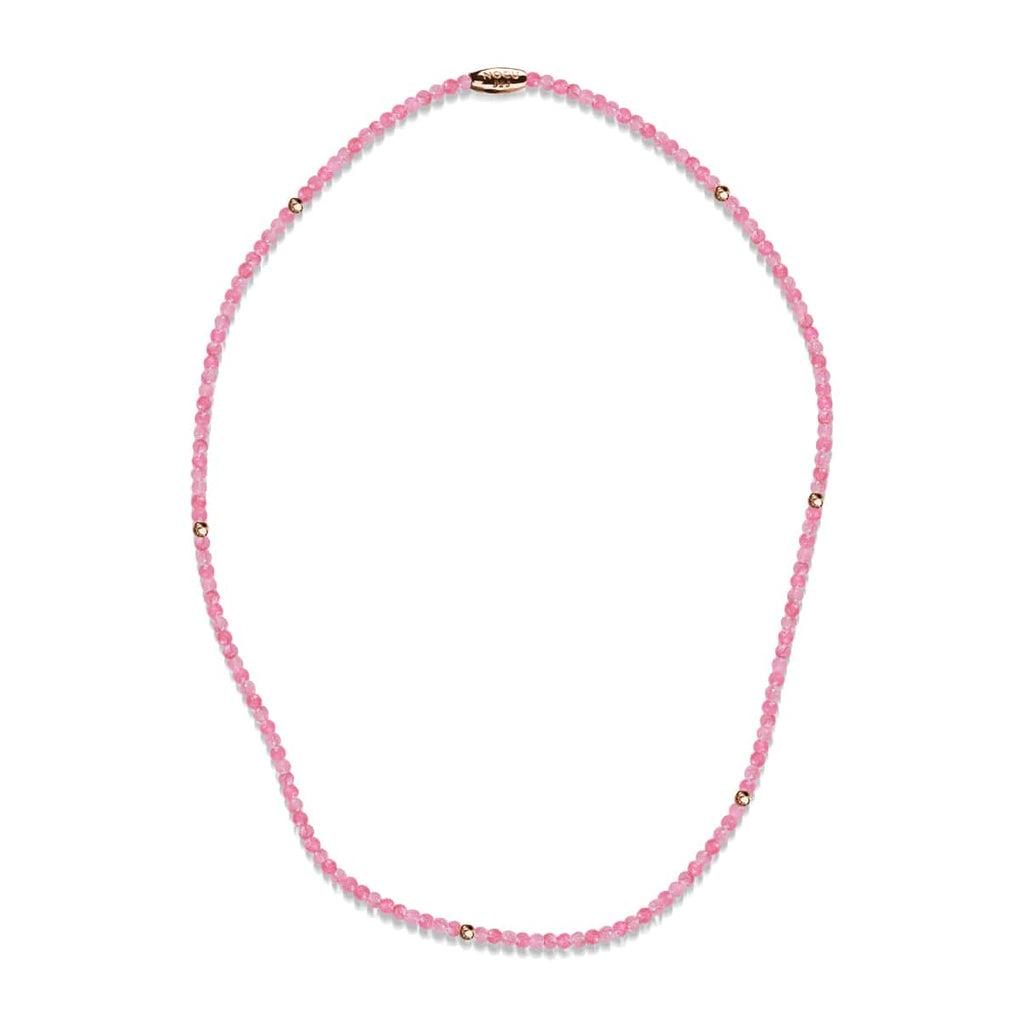 Pink Jade | .925 Sterling Rose Gold Vermeil | Gemstone Wrap