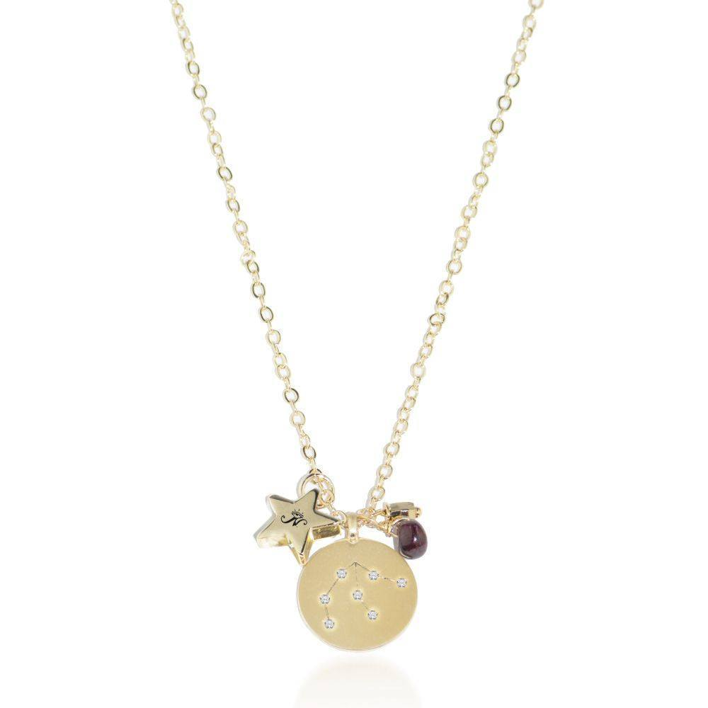 Aquarius | Gold Zodiac Crystal Constellation Necklace