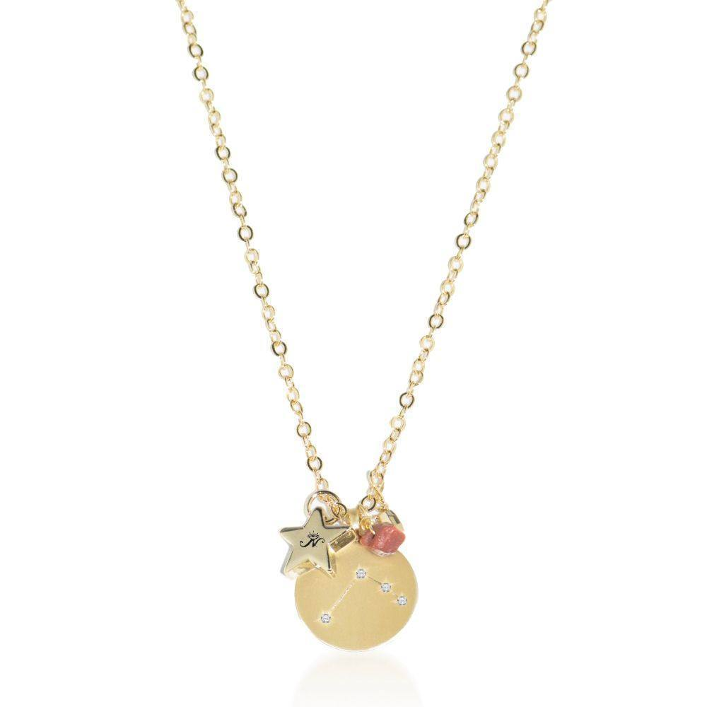Aries | Gold Zodiac Crystal Constellation Necklace