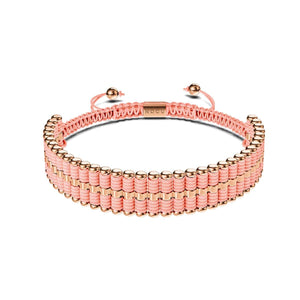 Amici | 18k Rose Gold | Coral | Friendship Bracelet