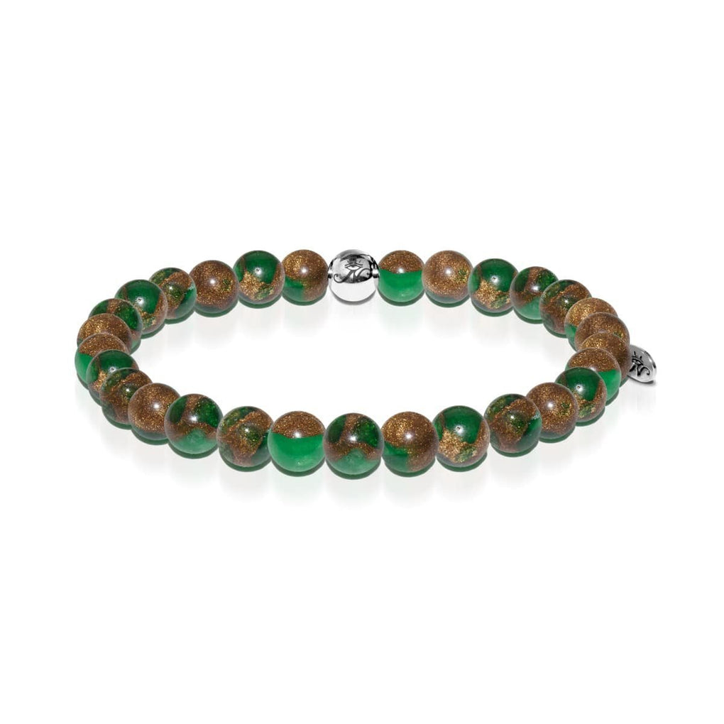 Calming | Silver Essence New Green Agate Bracelet