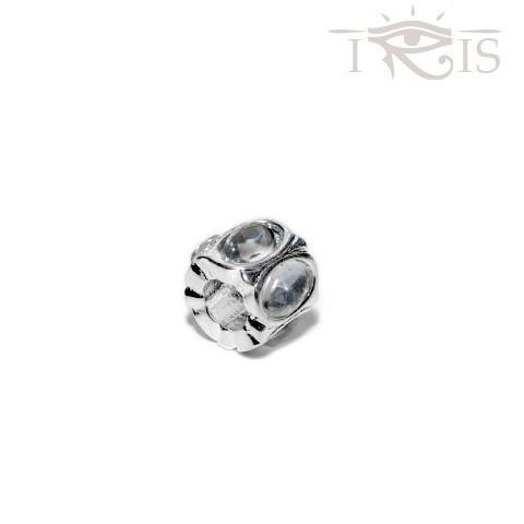 Gail - Crystal Jewel Silver Filled Charm from IRIS
