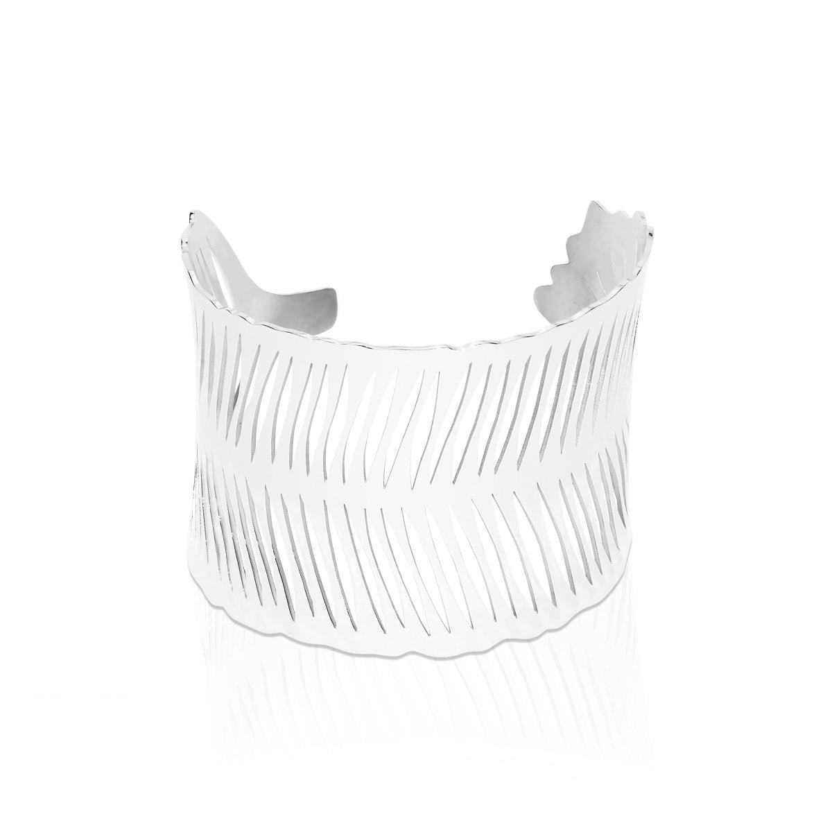 Silver | Palm Leaf | Laser Cut Cuff