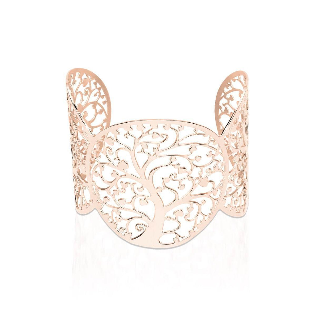 18k Rose Gold | Tree Of Life | Laser Cut Cuff