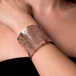 18k Rose Gold | Coral  | Laser Cut Cuff