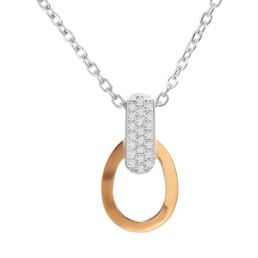 Dali | 14K Gold | Platinum | Sterling Silver | Bonded Pendant Necklace