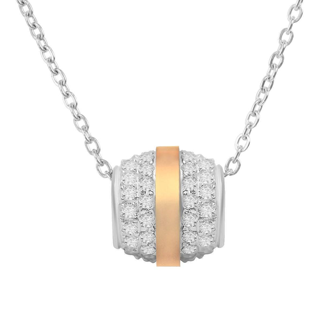 Grand Ball Crystal Drop | 14K Gold | Platinum | Sterling Silver | Bonded Pendant Necklace
