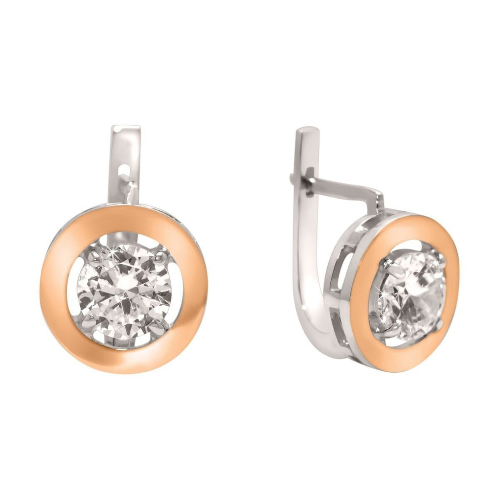 Gatsby Halo | 14K Gold | Platinum | Sterling Silver | Bonded Earrings