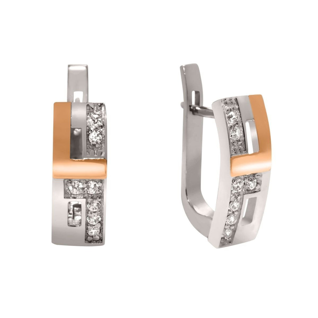 Dunand | 14K Gold | Platinum | Sterling Silver | Bonded Earrings