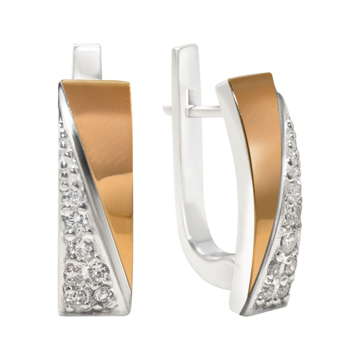 Fitzgerald | 14K Gold | Platinum | Sterling Silver | Bonded Earrings