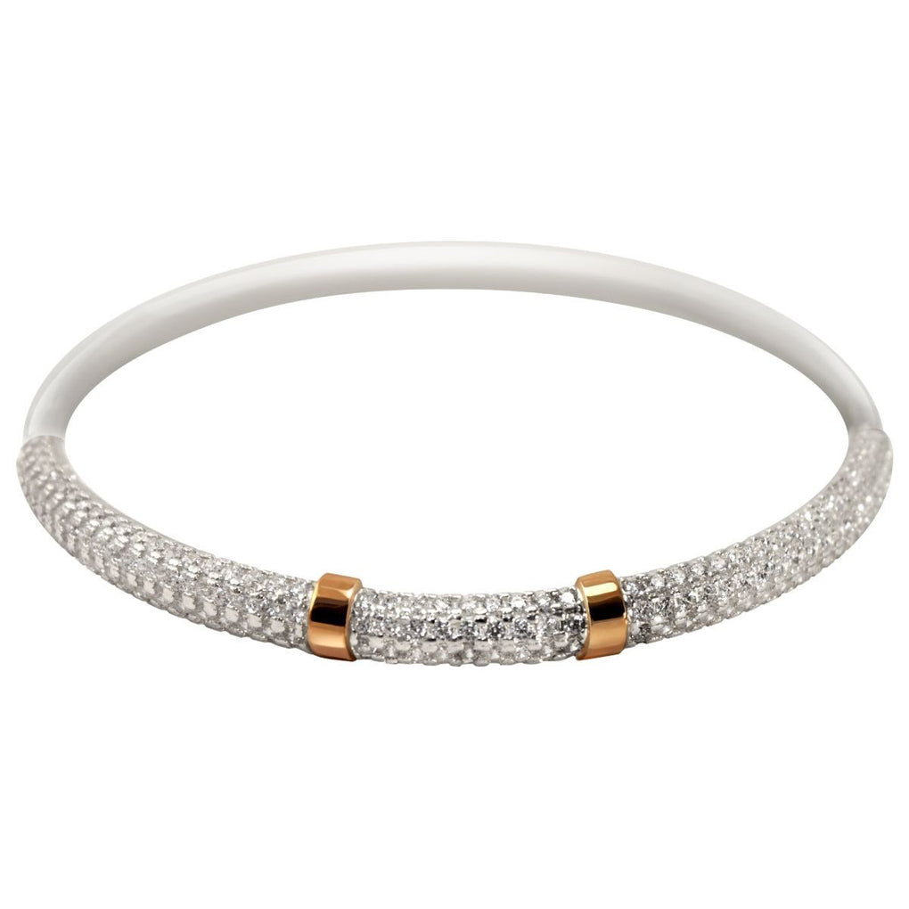 Gatsby Bangle | 14K Gold | Platinum | Sterling Silver | Bonded Bracelet