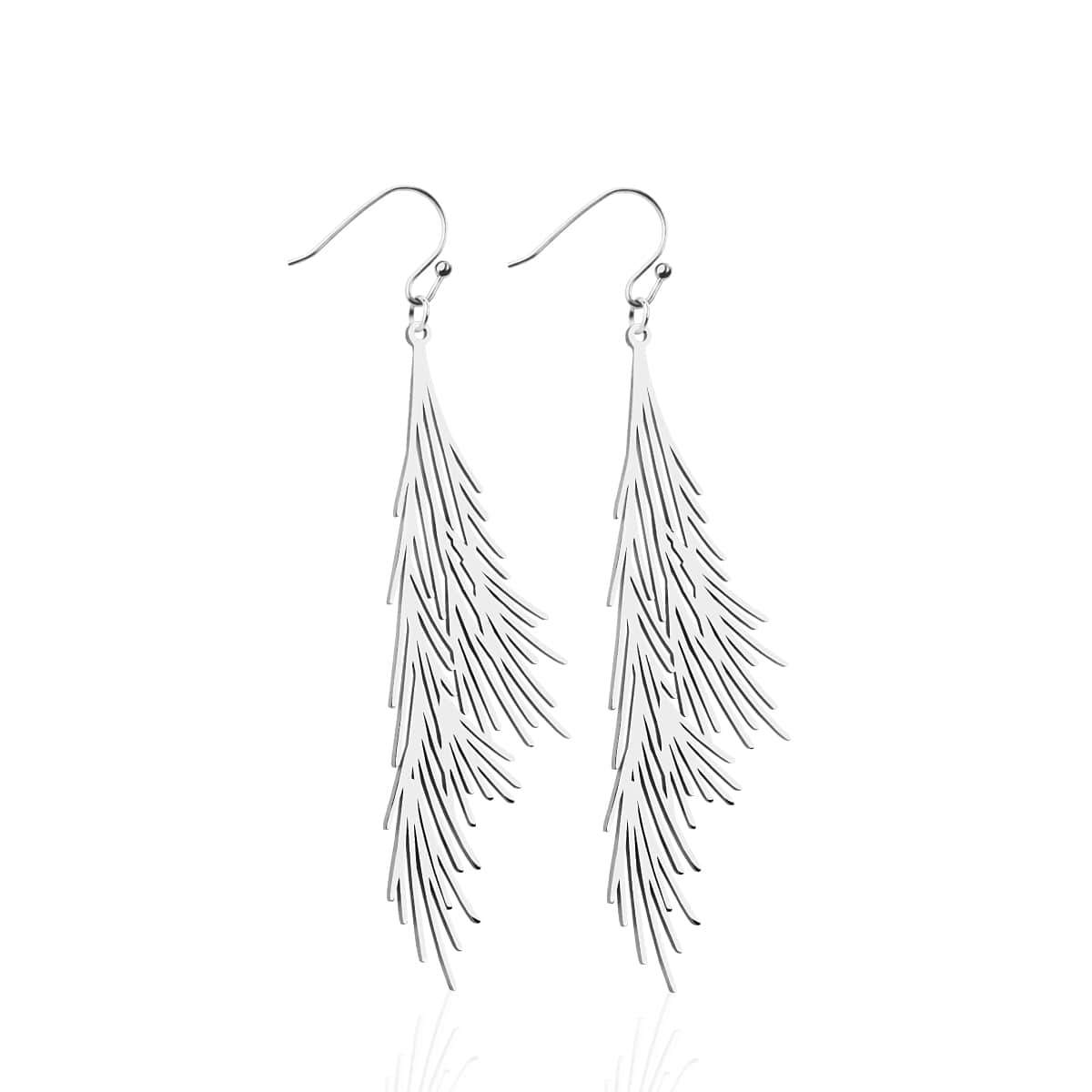 Palm Leaf | Silver | Gilded Earrings