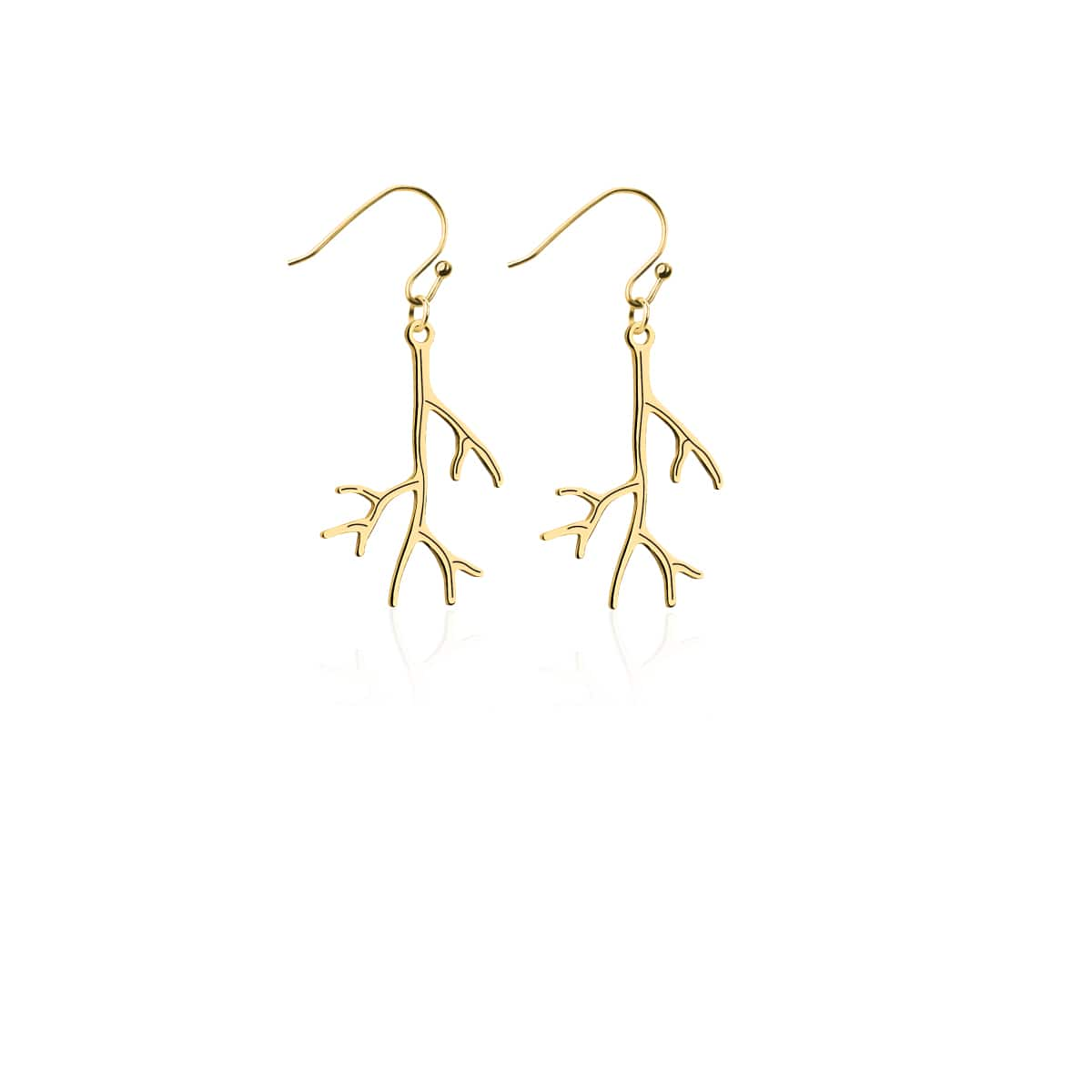 Coral | 18k Gold | Gilded Earrings