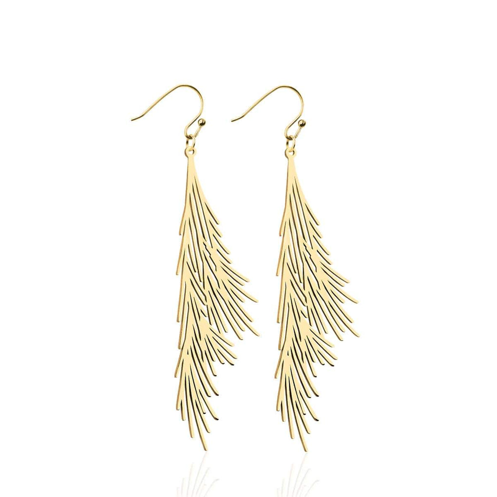 Palm Leaf | 18k Gold | Gilded Earrings