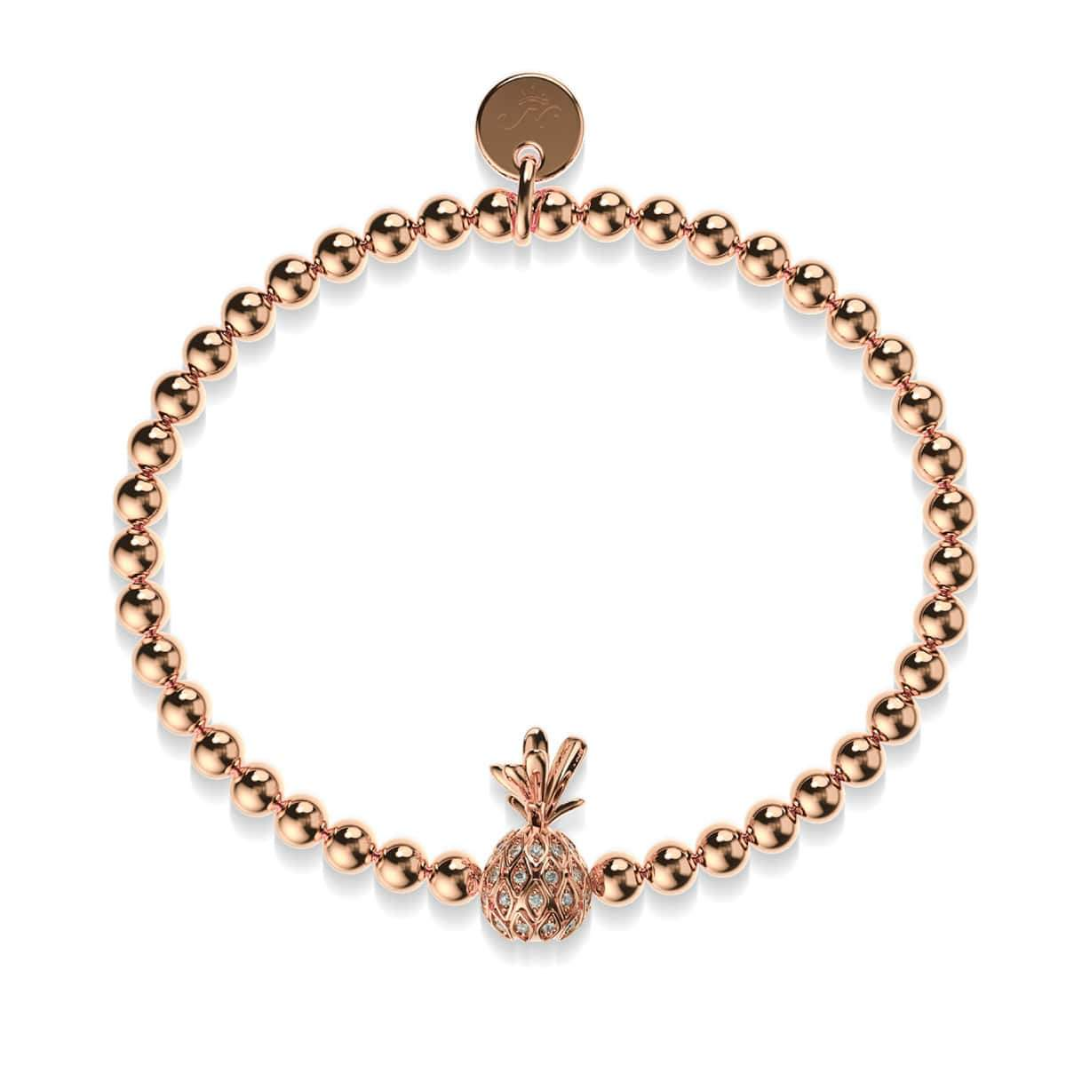 Piña Colada | 18k Rose Gold | Crystal Pineapple Bracelet