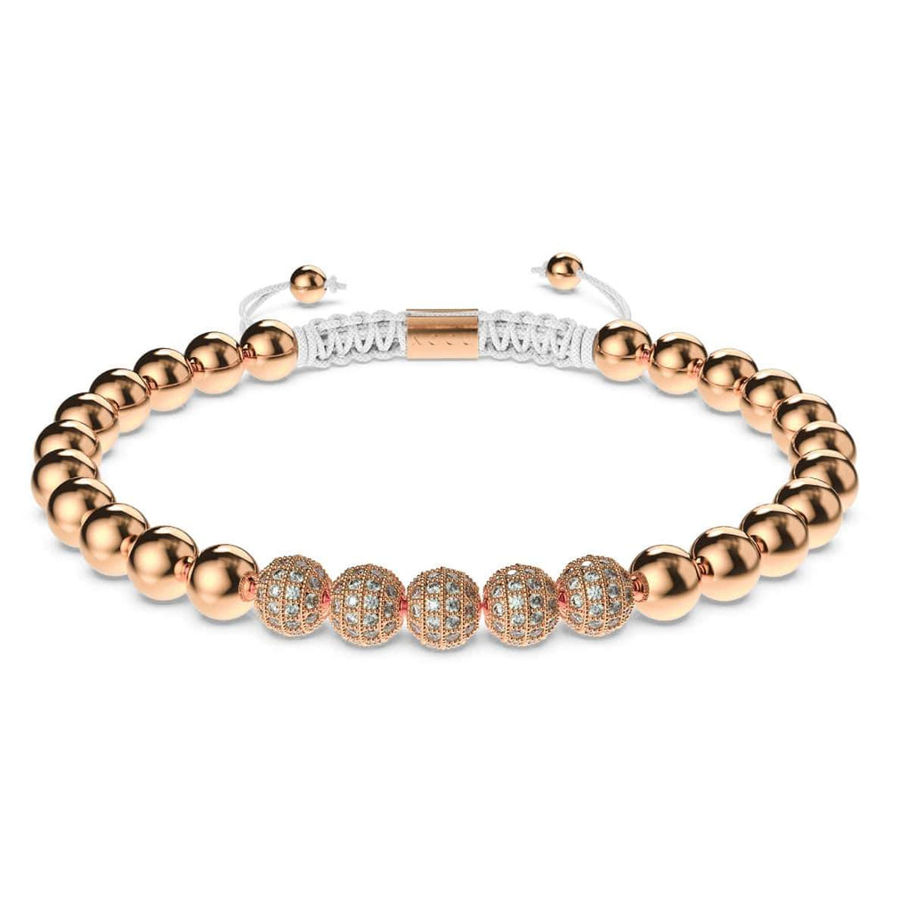 18k Rose Gold | Crystal Pavé Gala Bracelet | White