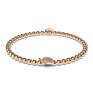 Tortuga | 18k Rose Gold | Crystal Sea Turtle Bracelet