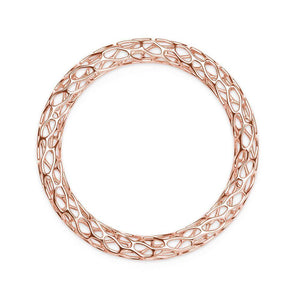 The HIVE Bangle | Double Wave | 14k Rose Gold Sterling