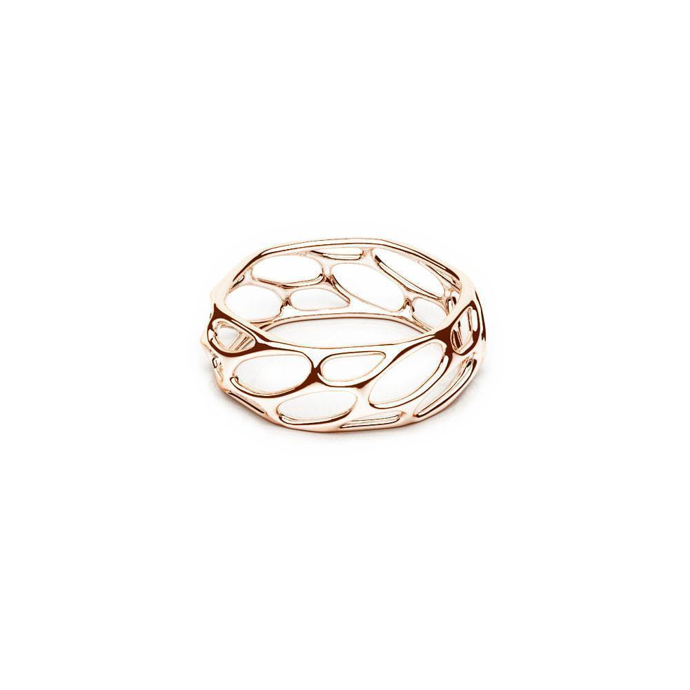 The HIVE Ring | Slim | 18k Rose Gold Sterling