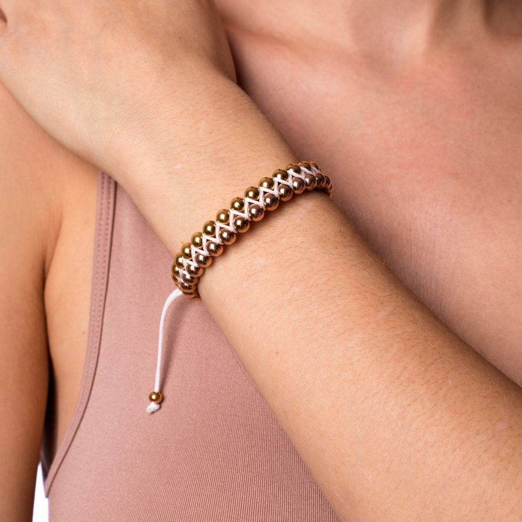 Two Tone 18k Gold | White | Vitality Bracelet