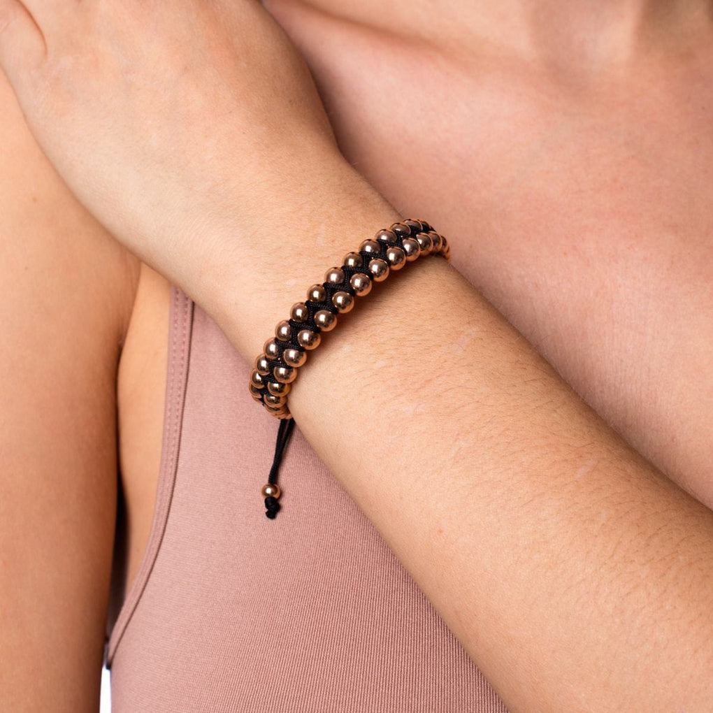 18k Rose Gold | Black | Vitality Bracelet