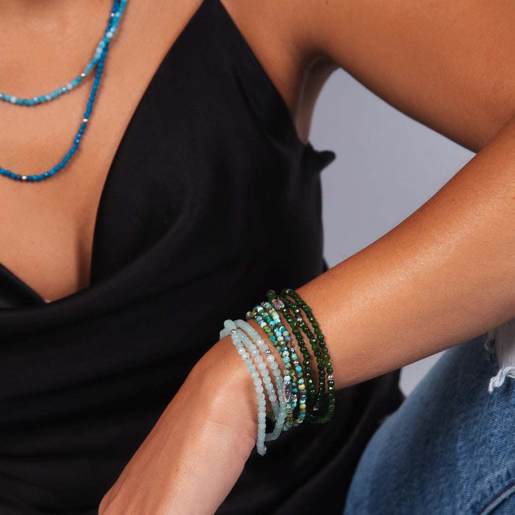 Green Jade | .925 Sterling Silver | Gemstone Wrap