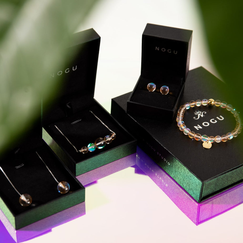 .925 Sterling Silver Champagne Supernova Galaxy Glass | 4 Piece Gift Set