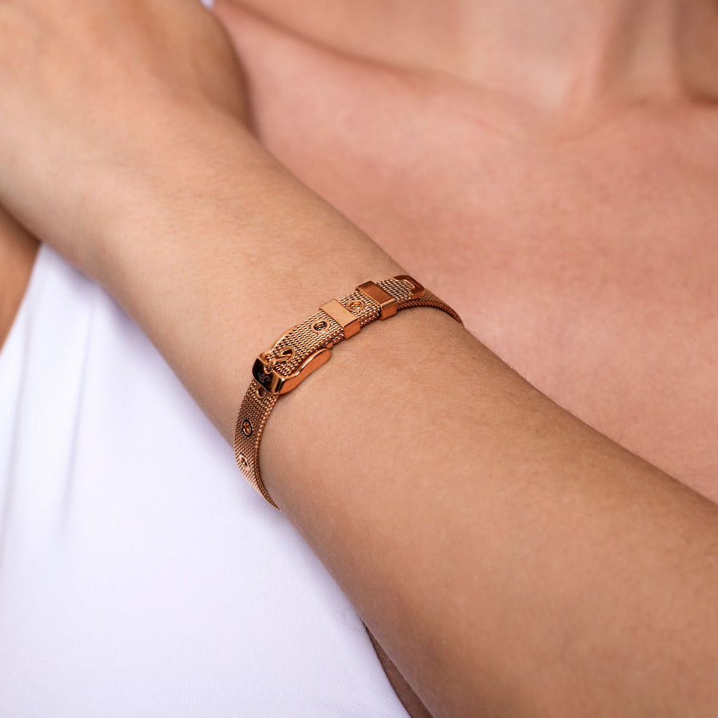Minimalist | 18k Rose Gold | Buckle Bracelet