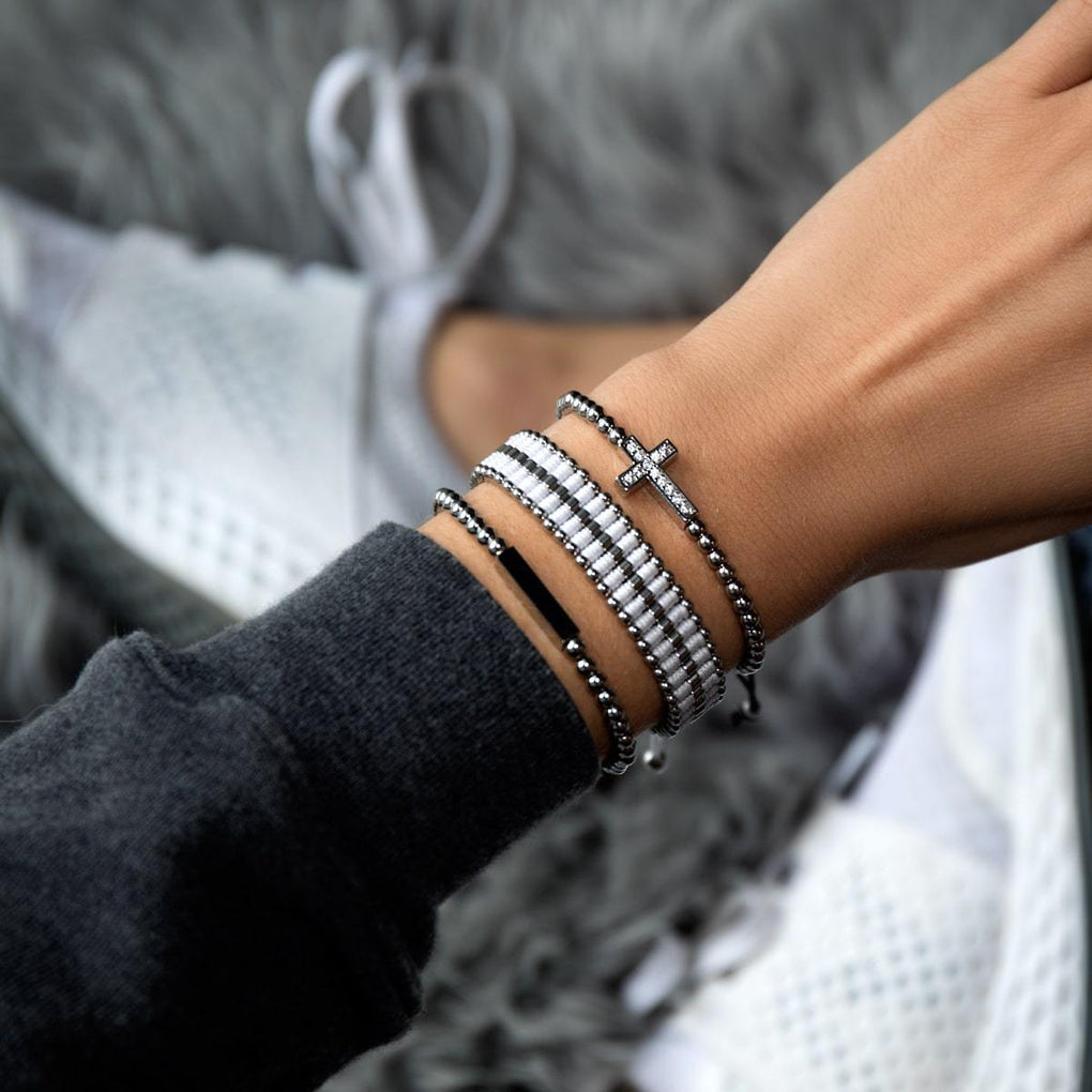 Amici | Silver | White | Friendship Bracelet