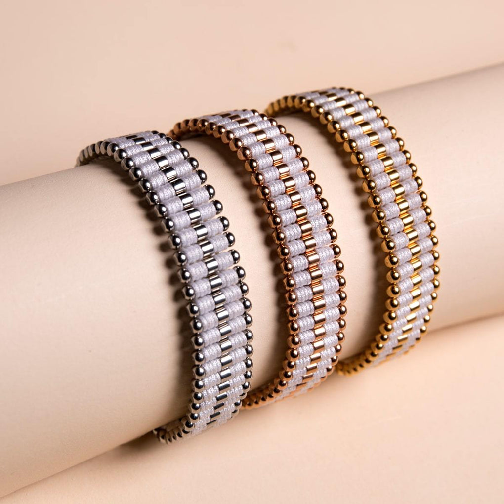 Amici | 18k Rose Gold | White | Friendship Bracelet