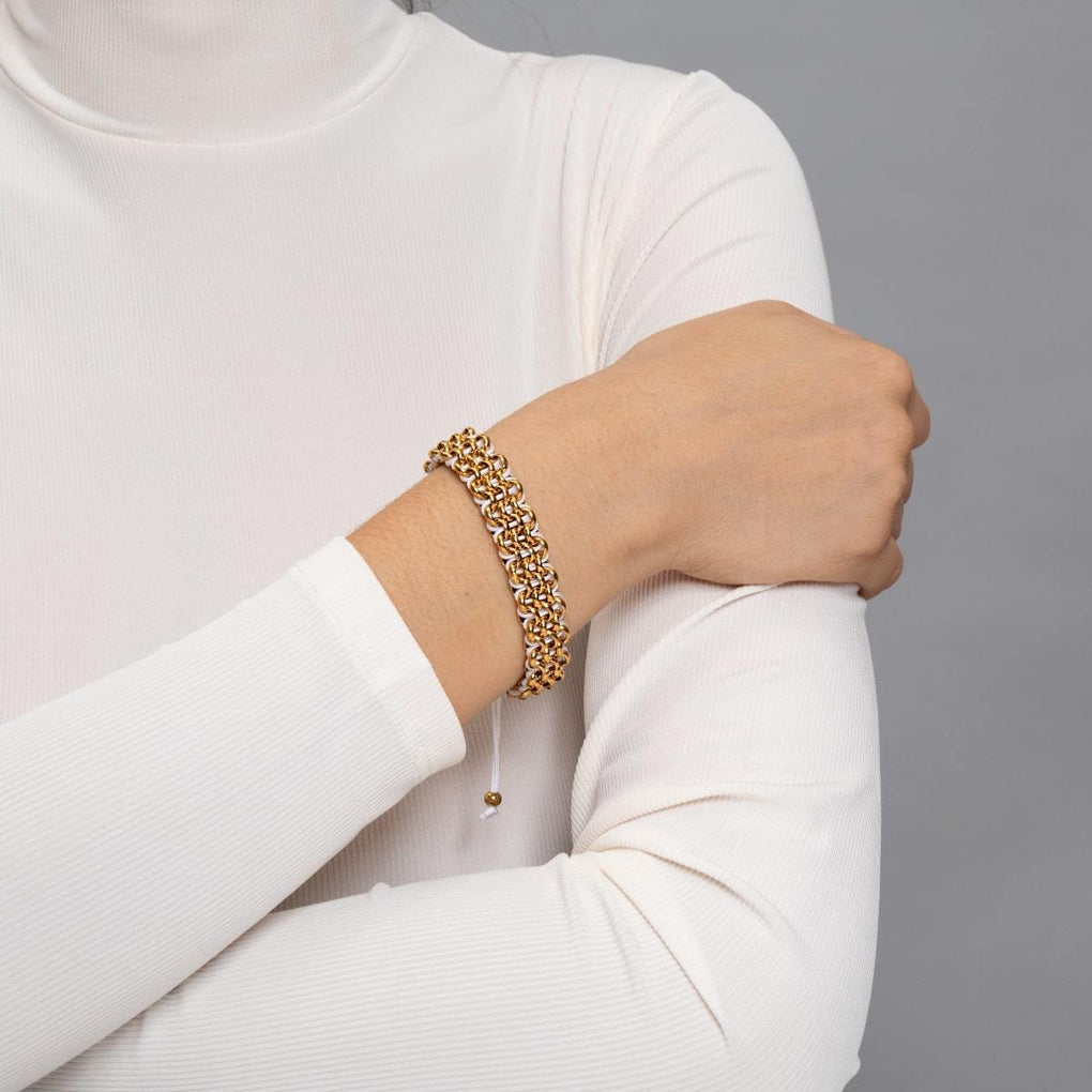 Supreme Kismet Links Bracelet | Gold | White