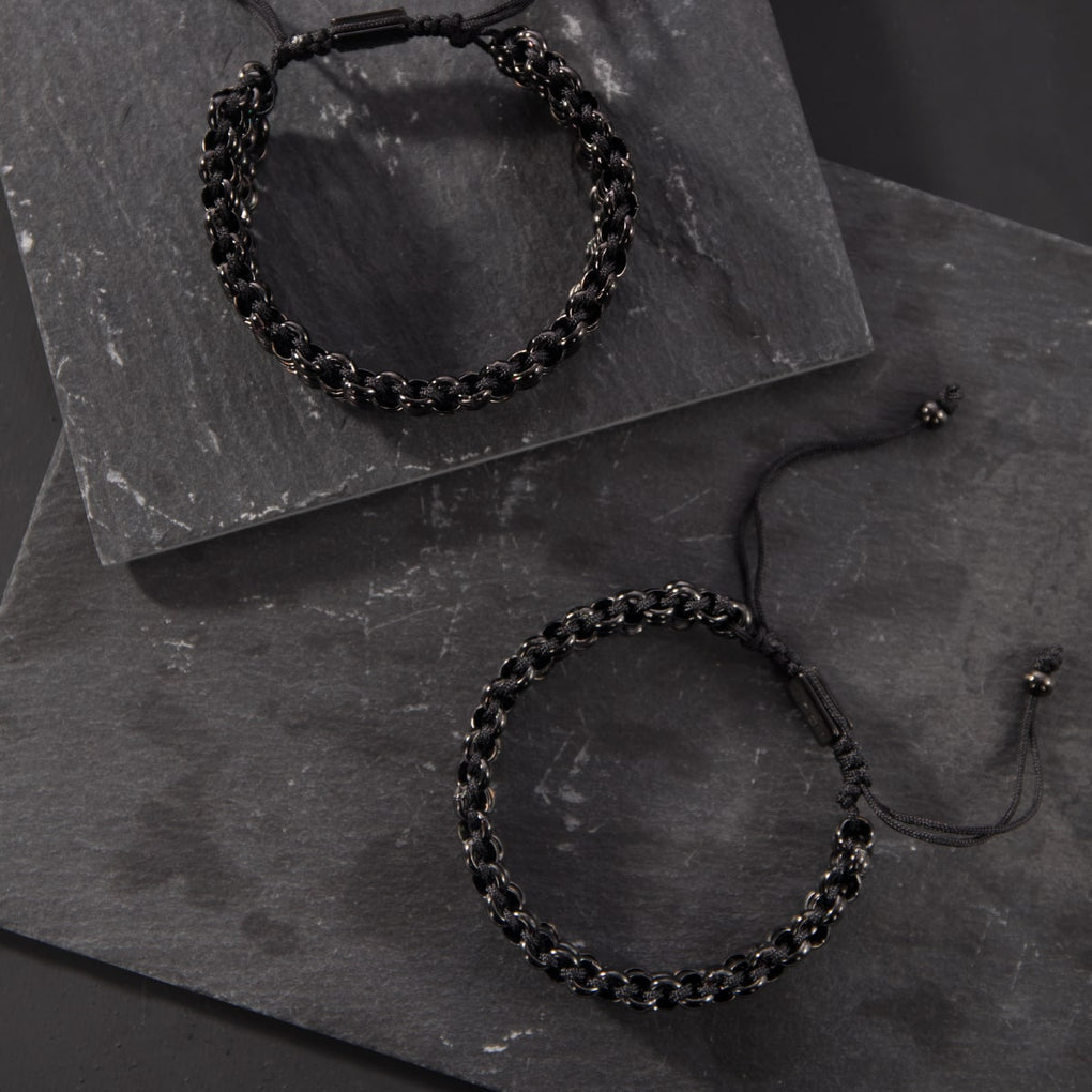 Mountain Gorilla Links | Original Kismet Bracelet | Black x Gunmetal | Men's
